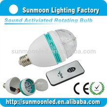 e27 3w rgb full color home party disco lighting led ball bulb rotating light disco
