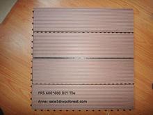 600x600 interlocking outdoor deck tile and composite deck tiles cheap wpc DIY tile