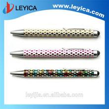 Fashional stylus pen with shining crystal metal craft