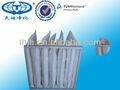 bolsillo de poliéster filtro de aire para la fábrica de automóviles