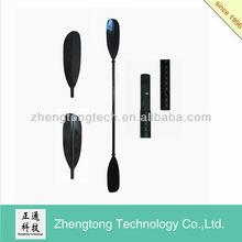 Carbon fiber shaft kayak paddle with black blade
