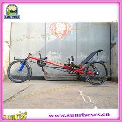 China 3 wheel recumbent tadpole bike