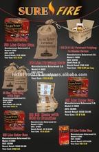 All Organic Roughcut Fatwood sticks, Natural Firestarter