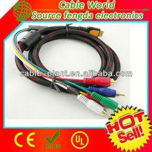HDMI to AV converter HDMI to 5 RCA AV cable