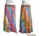 Vintage Diagnal Patchwork Silk Saree Wrap Skirt multiwearer