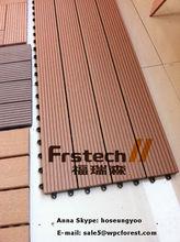 300x900mm WPC interlock decking tile and waterproof balcony flooring wood plastic composite deck