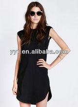 2013 Lady's New Fashion Black Sleeveless Simple Dress(LN130052)