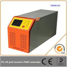 500W 12V solar controller inverter PWM DC24V AC 220V 50HZ 60HZ excellent design for short-circuit protection wrok reliably