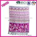 bufanda del telar jacquar rojo bordado de flores bufanda chal pashmina bufanda