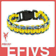 survival paracord survival bangle with plastic buckle