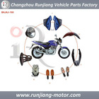 China factory motorcycle spare parts used for BAJAJ PULSAR 150