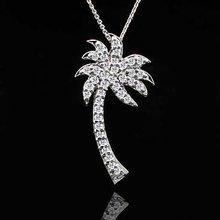 .40Ct Diamond Palm Tree Pendant 14K Gold