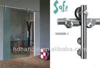 Sliding doors with glass panel for entrance door