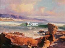Printed art sea landscape oil painting