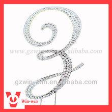 wedding crystal cake accessory