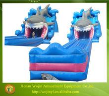 Shark inflatable water slide/18ft inflatable pvc tarpaulin water slide