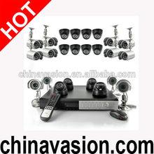24 Camera Surveillance Set with 12 Indoor Dome Cameras, 12 Outdoor Cameras, H264 DVR, 1TB
