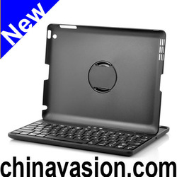 Bluetooth KeyBoard Case for iPad with 360 Degree Rotating Head, Protective Hard Shell, QWERTY