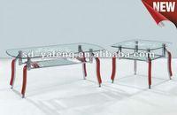 wood glass coffee table D056