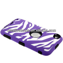 (Plastic + Silicone) Combination Case for iPod touch 4