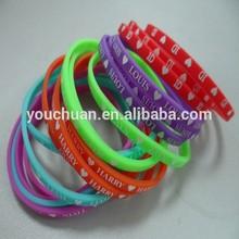 Mangnetic Silicone Wristband ribbon bracelet