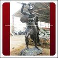 Belo clássico best-seller soldado de bronze estátuas