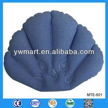 Flocked inflatable bath pillow, inflatable bath pillow cushion