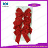 elastic pre-tied bows,flat satin stretch loop with pretied bow