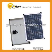 cheap price high quality poly solar panel 30w 12v solar cell