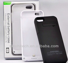 Your Smart Choice for External Battery Case Power Bank Backup Charger 2200mAh for iphone5 CE RoHS FCC accept Paypal
