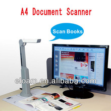A4 portable image and document scanner, auto focus OCR document scanner