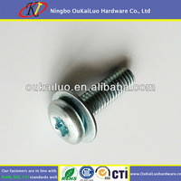 Pan Head Torx Drive Galvanized Screws With Washer Attached