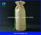 customized jute wine glass gift bags