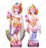 White Marble Sculpture Radha-Krishna Statues