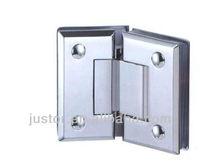 brass shower hinge right angle bathroom glass to glass clamp JU-W104B