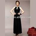 las señoras de moda vestido de noche negro 2013