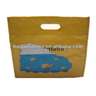 """""""Fish """"yellow pp woven shopping bag with die cut /glossy lamination"""