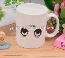 Most popular color changing mug/wake-up eyes,hotsale online