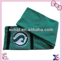Fashion jacquard fleece material men fleece scarf