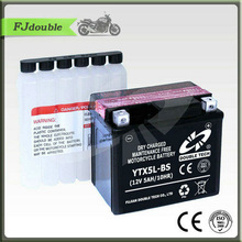 YTX5L-BS Battery/Maintenance free Dry Charge Motorcycle battery 12V5AH