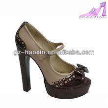 assorted color pu heels women
