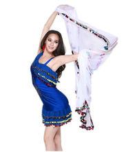 swegal sgbdj13001 7 blanco los colores de moda sexy danza del vientre abanico de seda