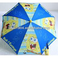 Hot sale animal kid umbrella with Spong bob logo