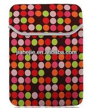 """7"""" 9.7"""" Dots Printed Neoprene Notebook Laptop Sleeve"""