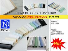 plastic ceramic tile trim, pvc corner tile trim, close type pvc trim