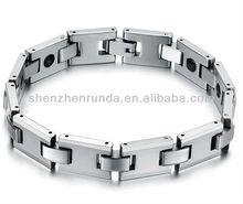 wholesale men bracelet stainless steel matte bracelet charm fashion jewelry manufacturer