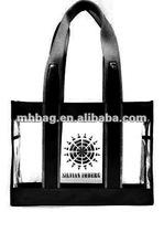 clear PVC beach tote bag