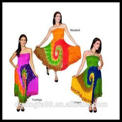Women's Tie-dye Rasta Beach Maxi Indian Dress Design Patterns