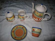 2013 fashion ceramic tea and coffee set