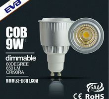 popular Dimmable 9w COB GU10 spotlight kit